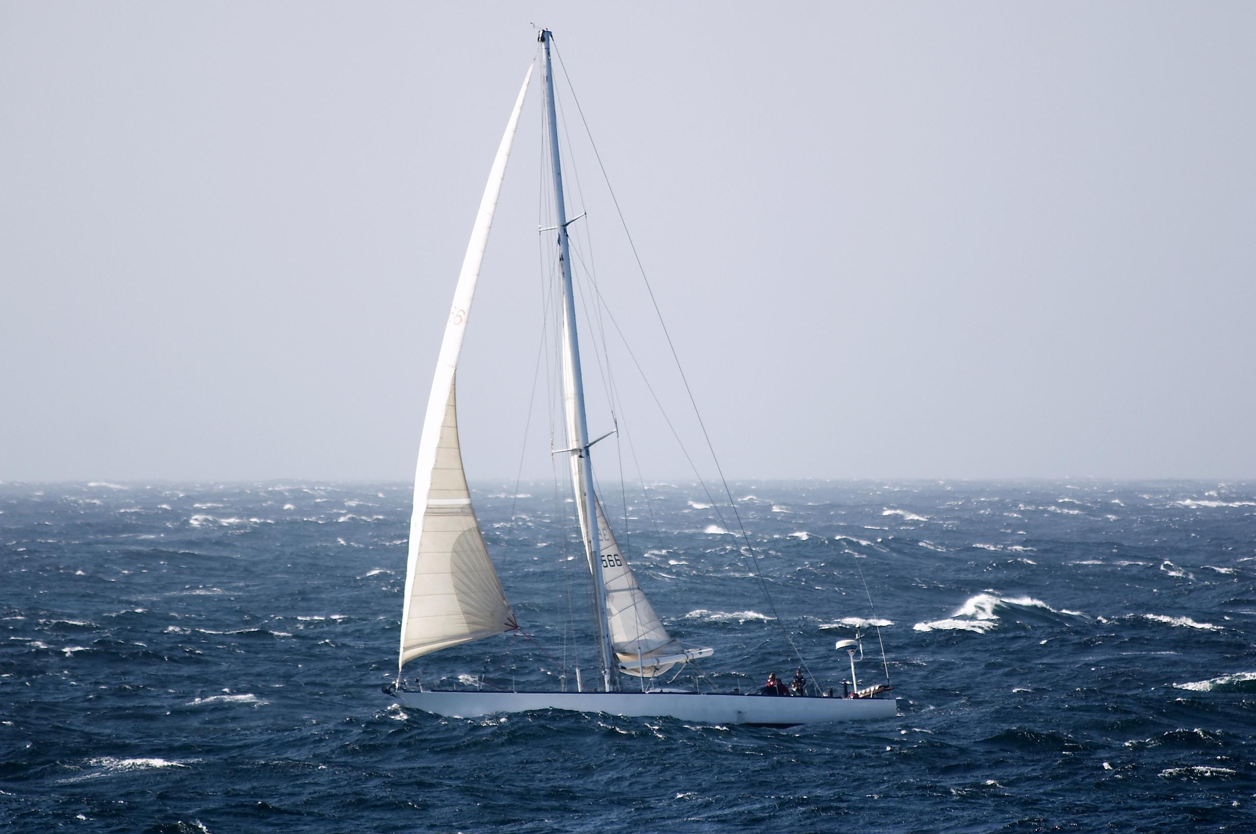 a boat sailing in the Atlantic ocean